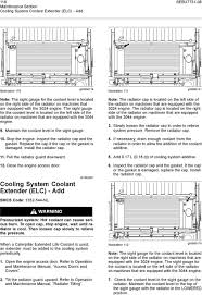 maintenance intervals pdf maintain the coolant level in the sight gauge 10 stop the engine inspect