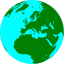 illustration of a globe showing europe free stock photo