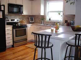 Small White Kitchen Tutorial Painting Fake Wood Kitchen Cabinets