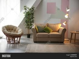 stylish living room comfortable. Wonderful Stylish Stylish Living Room Comfortable Interior With  Comfortable Sofa And Lounge Chair M Throughout Stylish Living Room Comfortable
