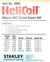 Helicoil Drill Chart Drill Size For 5 16 18 Tap Machupicchuperucompany Co