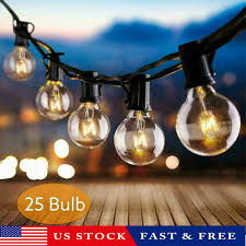 Joyin Lights 25ft Led G40 Outdoor Waterproof Commercial Grade Patio Globe String Lights Bulbs