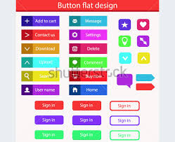 Button Design 117 Flat Design Buttons Elements Ui Kits For Graphic