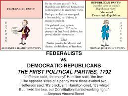 federalists vs democratic republicans the first political parties democratic republicans the first political parties 1792