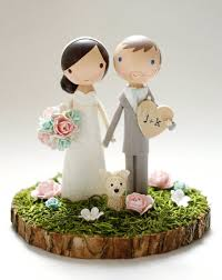 Custom Wedding Cake Topper Wood Slab Base Wedding Planning