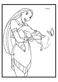 Small Picture Pocahontas Coloring Pages To Print Coloring Home