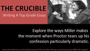 the crucible essay the crucible at com org essay writing the crucible