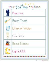 Bedtime Routine Chart Printable Bedtime Routine Your Life Organized 10 Free Printables