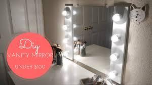 stand up mirror with lights illuminated vanity mirror diy vanity mirror with lights