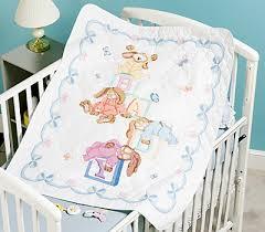 Janlynn Sleepy Bunnies Quilt - Stamped Cross Stitch Kit 054-0046 ... & Sleepy Bunnies Quilt - Stamped Cross Stitch Kit Adamdwight.com