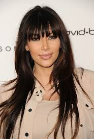 celebrity haircut kim kardashian s full bangs
