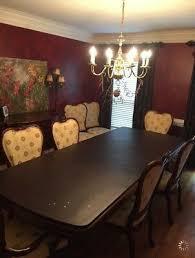 thomasville mahogany dining room set seats 8 barely used 2 leaves small mark
