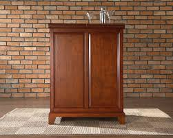 Cherry Bar Cabinet Crosley Furniture Newport Expandable Bar Cabinet In Classic Cherry