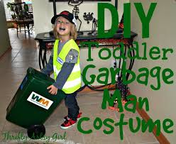 take out the trash diy toddler sized wheeled trash can and garbage man costume