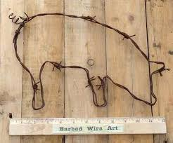 129 best barbed wire art images