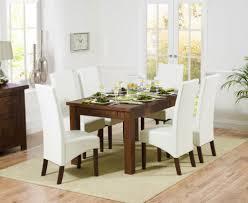 rustique 150cm dark solid oak extending dining set