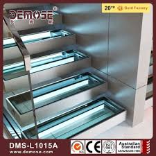 automatic led stair lighting. Decorative Automatic Led Stair Lighting Design\\New Design Glass Tread Straight Staircase Indoor