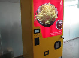 Chip Vending Machine Mesmerizing Beyondte Technology Creates World First French Fries Vending Machine