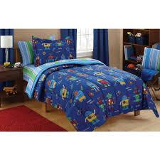 mainstays kids robots bed in a bag coordinating bedding set com