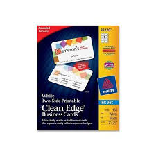 Avery Template 88220 Avery Clean Edge 88220 Business Card Ave88220 Walmart Com