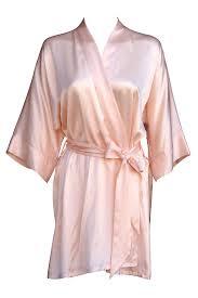 Light Pink Kimono Robe Pale Pink Silk Kimono