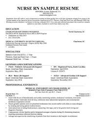 Sample Registered Nurse Resume 18 Cool Inspiration