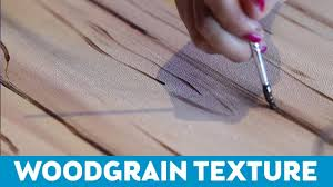 Art Tips for Non-Artists: How to Paint <b>Woodgrain</b> Texture - YouTube