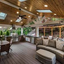 deck ideas. Outdoor Kitchen Deck - Large Transitional Backyard Outdoor Idea  In Seattle With A Roof Ideas K