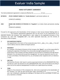 Legal Agreement Sample I Format
