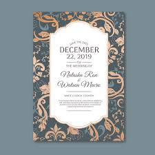 What Is Damask Elegant Damask Template Wedding Invitation Vector Free