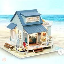 dollhouse furniture diy. Unique Dollhouse Diy House Doll Assemble Wood Dollhouse Furniture Kits Realistic  Miniature Toys Led Light For In Dollhouse Furniture Diy