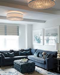custom made ottoman for the contemporary living room design yn rebuffel designs