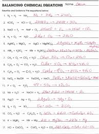 balancing chemical equations worksheet answers 1 25 chemistry balancing chemical equations worksheet answer key free