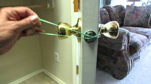 how to hold a door latch open temporarily