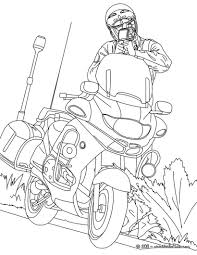 Small Picture Motorcycle police officer controlling speed traffic coloring pages