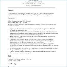 Objective In Resume Examples Job Objective Examples For Resumes Resume Job Sample Career