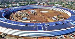 apples new solar powered spaceship office is nearly complete apples office