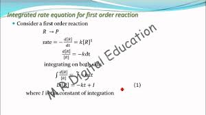 integrated rate equation of first order reaction chemical kinetics part 40 for cbse class 12 jee