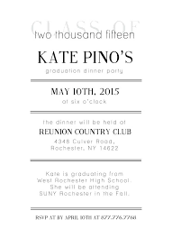 Graduation Dinner Invitation Wording Ideas Sample Graduation Party