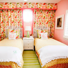 Small Pink Bedroom Bedroom Lovely Girl Room With Small Green Comfort Bed Feat Round