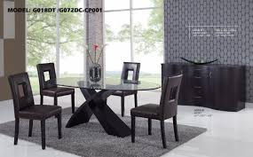 room furniture tables modern mission glass top dining room tables modern glass and glass top