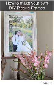 how to make your own diy picture frame out of baseboards crown molding or chair rails here to learn how