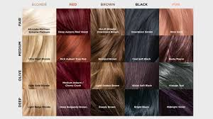 Shades Of Red Hair Color Chart