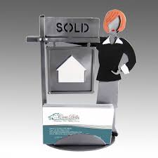real estate agent business card holder