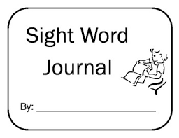 Primary Sight Word Journal 25 Pre K To 1st Grade High Frequency Words