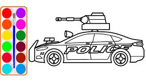 43+ Tranh tô màu xe cảnh sát đẹp nhất cho bé tập tô
