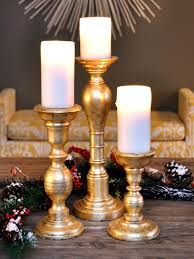 Diy Gold Candle Holders How To Make Gold Leafed Holiday Candlesticks Hgtv