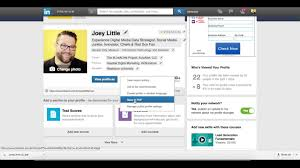 How To Download Your Linkedin Profile As A Pdf Youtube