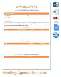 For Dummies Template Download Meeting Agenda Templates Doc