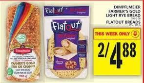 Foodbasics Dimpflmeier Farmers Gold Light Rye Bread Or Flatout